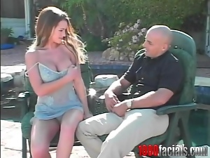 Busty Vickie Powell gets fucked rough by a bald guy