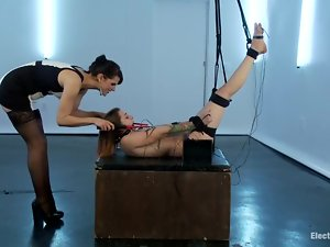 Pretty Bobbi Starr ties up a girl and humiliates her