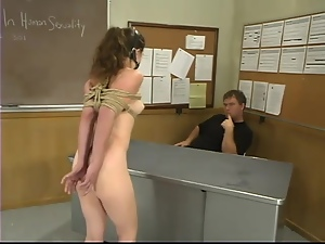 Lovely Lena Ramon gets dominated in a classroom