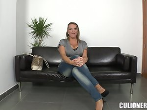 Laura shows off her huge natural boobs and gets fucked