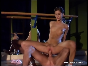 Sexy ballerina gets fucked nice and deep by her partner