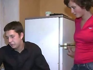 Guy looks at GF fucked