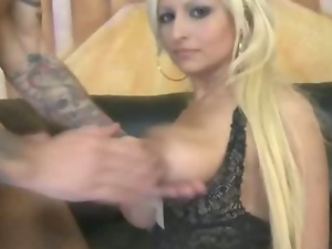Mature blonde ready for rough porn or so she thinks