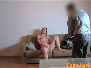 FakeAgent HD Fit blonde goes all the way in casting