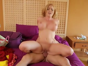Krissy Lynn bounces her hot pussy on this hard prick