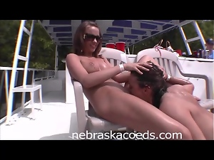 Party Girl Pussy Eating in Public
