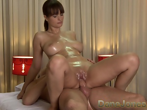 DaneJones HD Sexy massage from cute busty brunette lady
