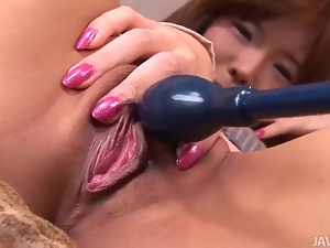 Dirty slut Serina has her sweet pink pussy with vibrato