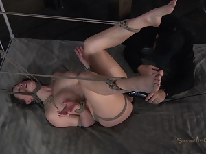 Tied and tormented with vibrator