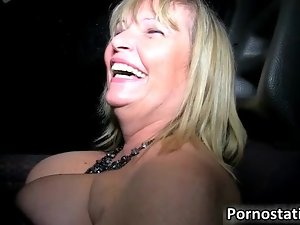 Older but horny blond woman