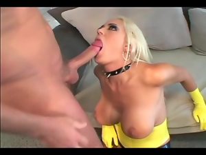Anal Sex in latex gloves stilettoes and stockings