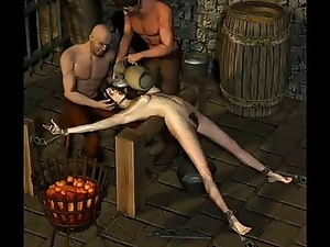 Hot 3D model gets abused in dark dungeon