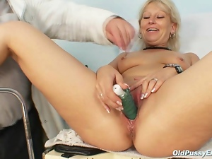 Dirty granny bitch gets her recturm examined by kinky doctor