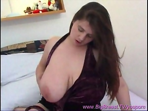 monster breast babe at home
