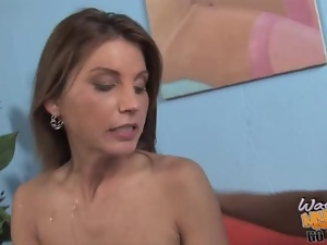 busty MILF gets poked by a huge black cock