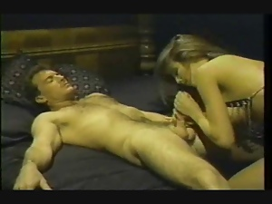 Vintage porn features woman in chains fucked in pussy