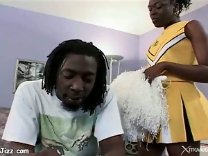 Black Cheerleader Sluts in Heat Love Big Cocks