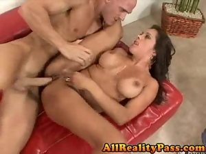 Pornstar pussy hammered in front of husband
