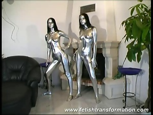 Hot twins in silver