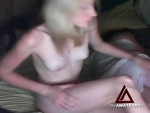 Skinny webcam slut banged and smokes a cigarette
