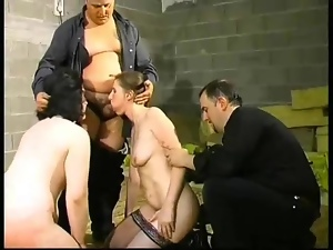 Huge toy fucking and trampling with sub girls
