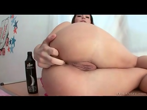 Water enema in the shower and a good butt fuck