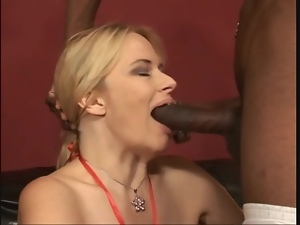 White mommy with fake tits fucked by black cock