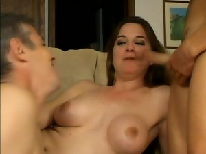 Cocksucking and ass fucking guys in threesome