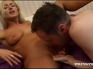 Hot blonde Didi gets banged doggy style after sucking a dick in 69 position