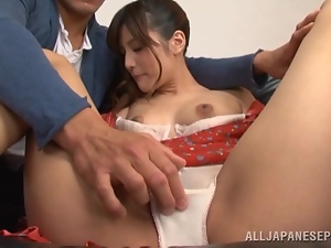 Adorable Ema Toono gets her trimmed pussy drilled by her hubby