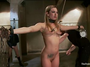 Blonde beauty Bailey Blue gets bound and fucked like never before
