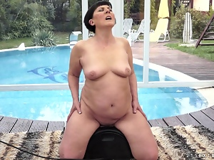 Granny Discovers Sybian and Has More Orgasms Than in All Her Life