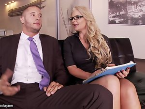 Foot Fetish Action in the Office with Horny Phoenix Marie