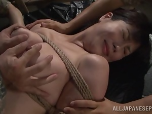 Japanese army girl gets seized and then fucked hard