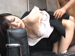 Job interview with Aya Eikura ends up with a hot doggy style