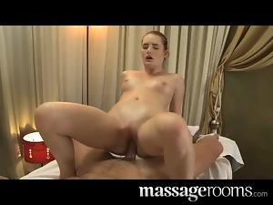 Lustful girl has passionate sex with her masseur