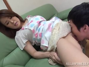 Miina Ichinose enjoys hot rear banging after getting mouth-fucked