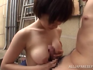 After her yoga session a horny Japanese housewife rides