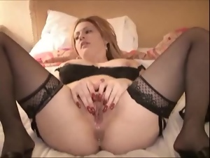 Redhead sucks a BBC and gets her vag torn up and filled with cum
