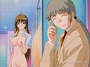 Sensual anime siren fantasizing about sex in shower