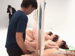 Naked asian hotties get cunts fucked in a sex contest