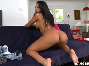 Cuban honey Luna Star rides that cock so hard