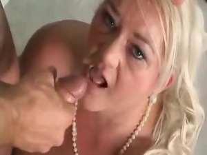 Chubby granny enjoys every move of his dick