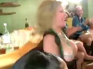 Wild amateur girls suck CFNM stripper