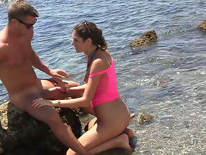 Real sex party on the sunny beach 3. Part 4