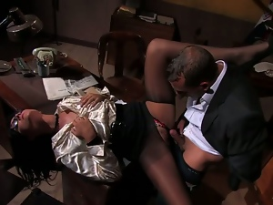 SEXY SECRETARY GOBBLES HIS MANHOOD. Part 2
