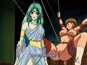 Beautiful hentai BDSM video in the dungeon