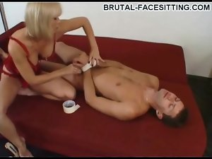 Bound before she sits on his face