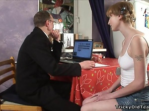 Babe gets hot fucking lesson