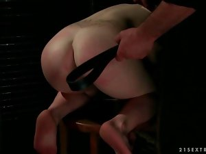 Busty sex slave gets fucked hard